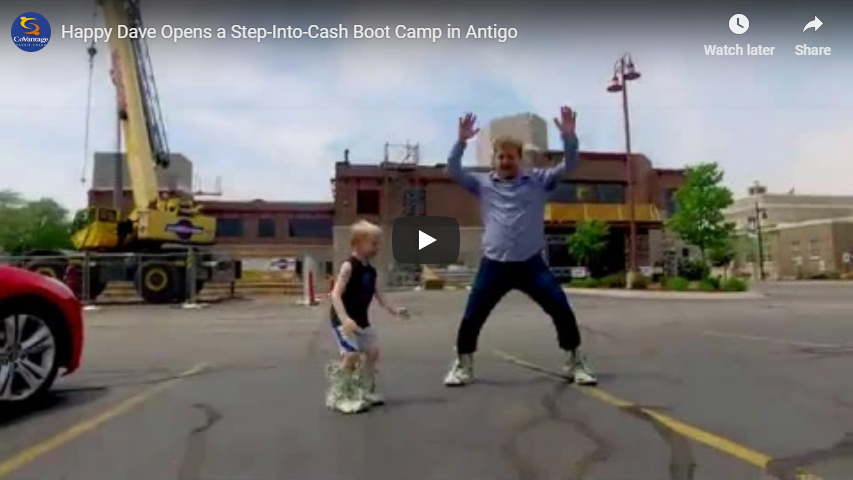 Happy Dave Opens a Step-Into-Cash Boot Camp in Antigo